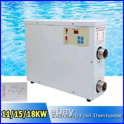 11KWith15KWith18KW Electric Pool Swimming Pool Heater SPA Hot Tub Thermostat 220V US
