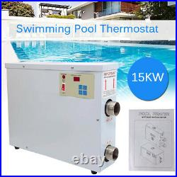 15KW 220V Electric Swimming Pool Water Heater Thermostat SPA Hot Tub Jacuzzi US