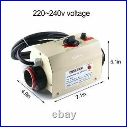 220V 3KW Electric Swimming Pool SPA Heater Thermostat Heating Equipment USA