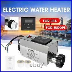 3000W Electric Water Heater Adjustable for Swimming Pool SPA Hot Tub Home Use