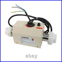 3KW 220V Electric Swimming Pool Heater SPA Water Bath Hot Tub Thermostat Heater