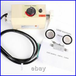 3KW Electric Water Heater Thermostat Swimming Pool SPA Bath Heater Pump 220V