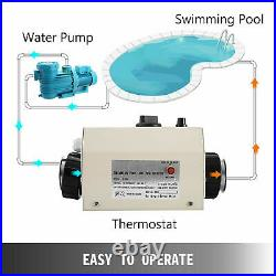 3KWith220V Electric Water Heater Thermostat Machine Swimming Pool and SPA Heater