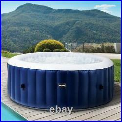 6 Person Inflatable Hot Tub Blue Portable Hot Tub Pool Jacuzzi Spa See VIDEO