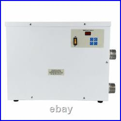 9KW 220V Pool Heater Thermostat Swimming Pool SPA Electric Water Heater Pump