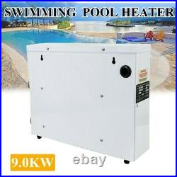 9KW 380V Electric Swimming Pool Water Heater Thermostat SPA Water Heater Pump US