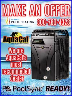AquaCal SQ125 Swimming Pool & Spa Heater Free iSync wifi Control Included