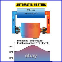Electric Water Heater Thermostat 3KW Mini Swimming Pool & Bath SPA Tub 50/60Hz