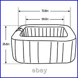 Hot Tub Inflatable Spa 6 Person Air Jet Portable Square Pool Outdoor Pump Cover