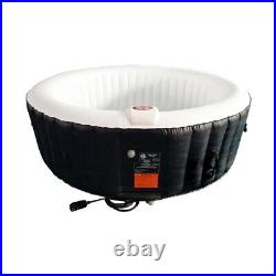 Inflatable Hot Tub 6 Person SPA Pool Heater And Bubble Function Round Black New
