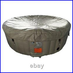Inflatable Hot Tub Heater And Bubble Jet Function SPA Round 6 Person Brown Pool