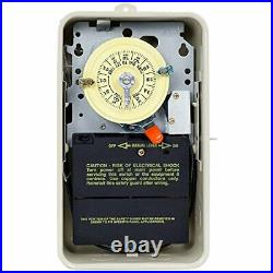 Intermatic T101R201 Mechanical Pool/Spa Timer Switch 120/240V Heater Protection