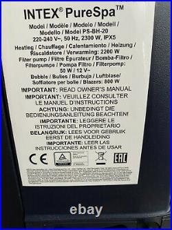 Intex Pure Spa Hot Tub Pool Water Heater Circulation Pump Model PS-BH-20