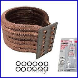 Pentair 77707-0234 Tube Sheet Coil Assembly Replacement Kit Pool and Spa Heater