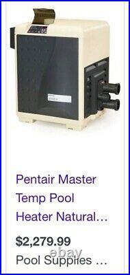 Pentair MASTERTEMP pool and spa heater