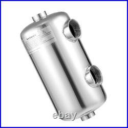 Pool Heat Exchanger Same Side 1+ 1 1/2FPT 135 kBtu Spa Sauna Heater Machine