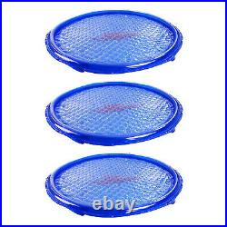 Solar Sun Rings UV Resistant Pool Spa Heater Circular Solar Cover, Blue (3 Pack)