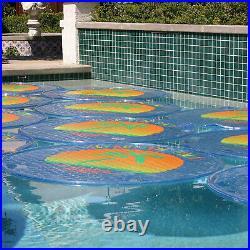 Solar Sun Rings UV Resistant Pool Spa Heater Circular Solar Cover, Blue (9 Pack)