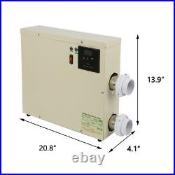 Swimming Heater Tub 240V 5.5/11/15KW Water Pool SPA Electric & Thermostat