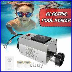 Swimming Pool Heater Electric 3KW 220V Pool SPA Bath Hot Tub Water Heater USA EU